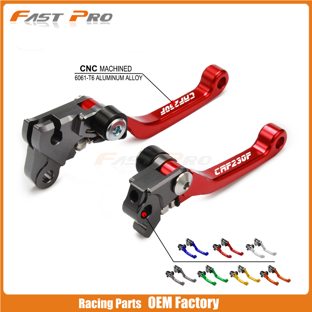 Motorcycle Free Shipping Dirt Bike Red Clutch Brake Levers For Honda CRF230 F CRF 230 F 2003 2004 2005 2006 2007 2008 2009-2017
