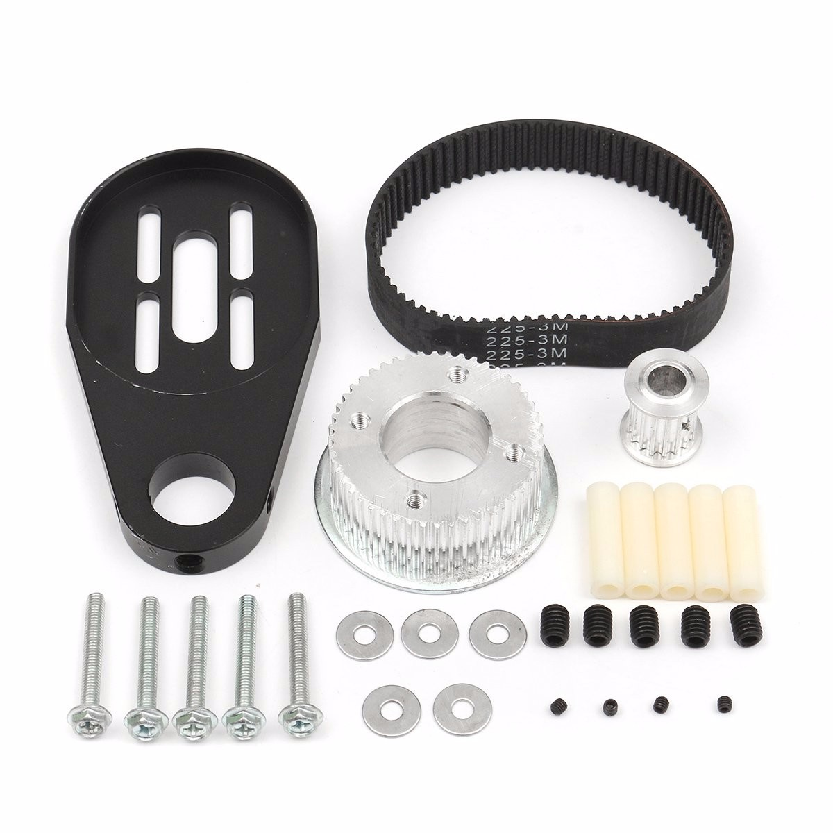 New DIY Electric Skateboard Parts Pulley Drive Belt And Motor Mount Kit For 80MM Wheel Parts Accessories