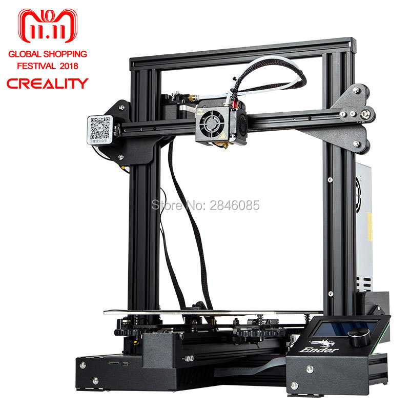 Creality Ender3 Ender-3X Upgraded Tempered Glass Magic Cmagnet MeanWell Power Optional,Resume Power Failure Printing DIY KIT cheapdiy 3d printer creality ender 3s pro upgraded tempered glass optional v slot resume power failure soft build bed
