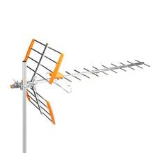 80Mile resepsiyon aralığı dış mekan TV anteni yüksek kazanç HDTV anten dijital güçlendirilmiş açık/tavan/çatı HDTV anten