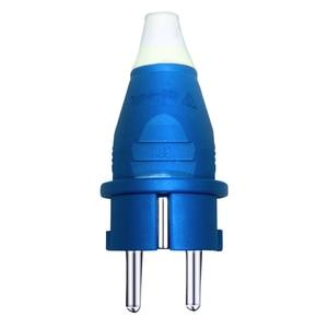 Image 3 - Phích Cắm EU 4000 W 16A Ổ Cắm Bộ Điều Hợp Chống Thấm Nước IP54 Tròn 2Pin Điện Nam Đầu Cắm Schuko To Rewireable Ổ Cắm