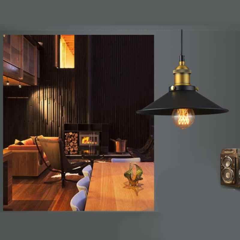 Винтажный подвесной светильник Железный промышленный Ретро стиль абажур, Лофт подвесной светильник металлическая клетка столовая сельская местность без лампы