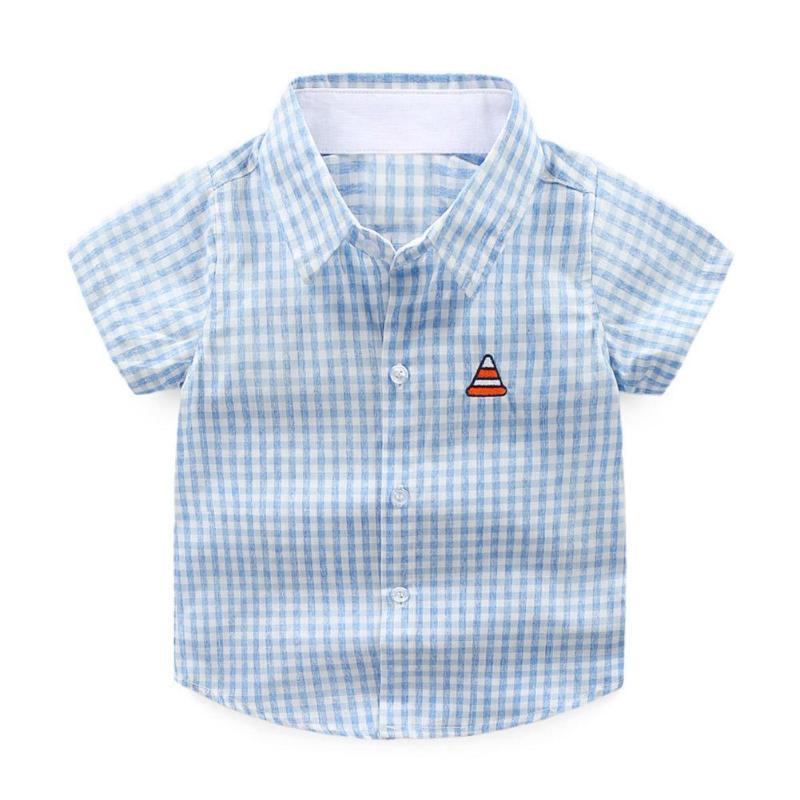 2019 Baby Kleidung Set Jungen Shirts Mode Doodle Druck Cartoon Drehen-unten Kragen Kurzarm Shirts Baumwolle Kinder Outfits