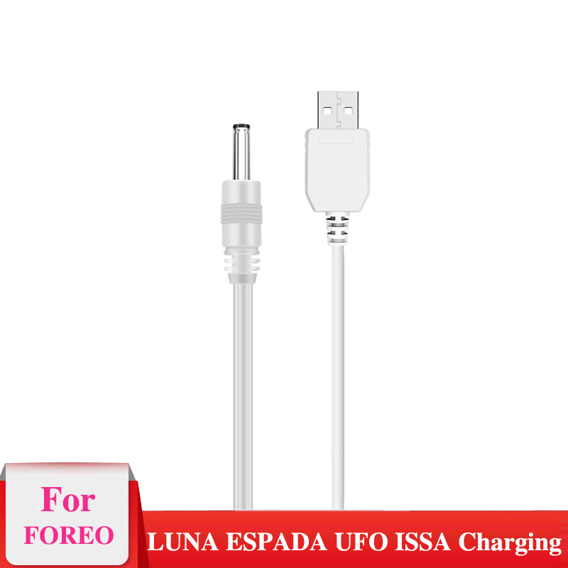 USB Charger Cord For Foreo Luna 2 3 Mini 2 Go Luxe Men Facial Spa Massager For Cleansing Charging Cable