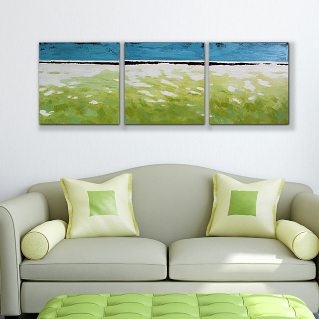 100% Hand Painted Abstract Landscape Oil Painting On Canvas Modern Wall Art Picture For Living Room Home Decoration 3pcs/set