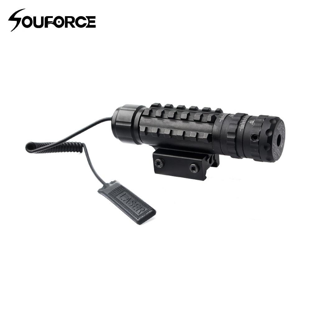 Visée Laser tactique à point vert avec 11/20mm commutateur à distance d'os de poisson queue Laser pour fusil Airsoft Gun vue chasse