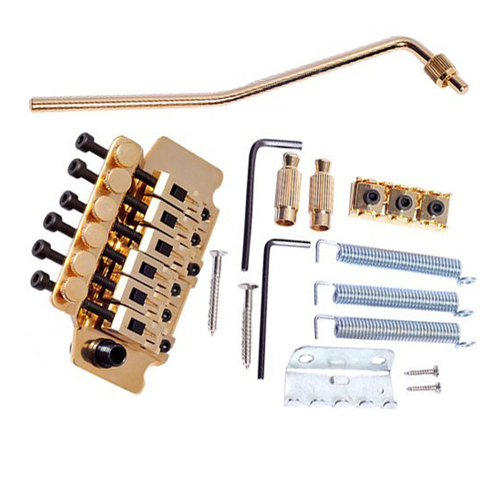 1 Package Gold Guitar Tremolo Bridge Parts System