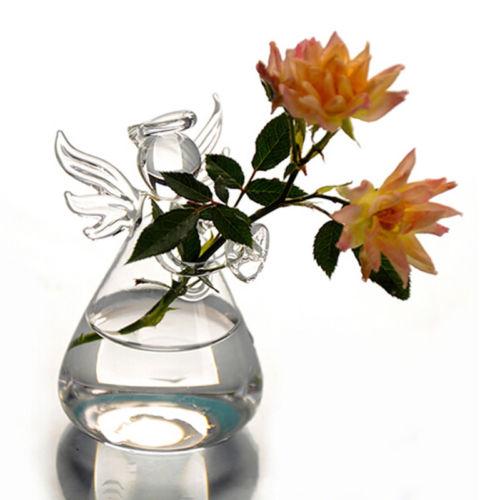 2019 Neueste Heiße Nette Engel Glas Blume Pflanze Form Hängen Vase Hause Büro Hochzeit Dekoration