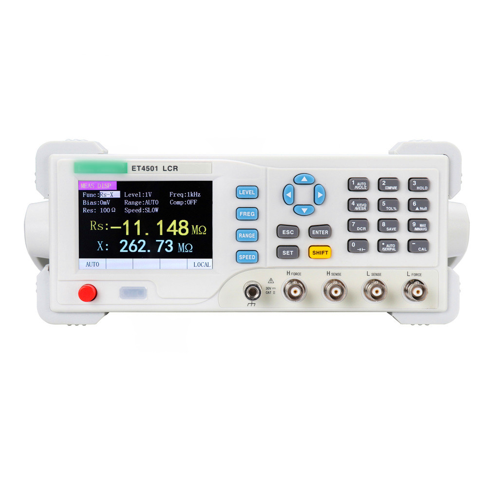 ET4501 L RC Benchtop Digital Bridge Desktop L CR L CR Tester L CR Meter Capacitance Resistance Impedance Inductance Measure