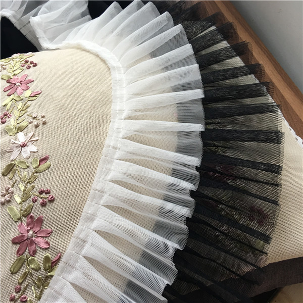 9cm Width Exquisite Encryption Soft Gauze Lace Window Curtains Pressure Zhequn Pendulum Cuff A Doll Clothes Edge Accessories in Lace from Home Garden