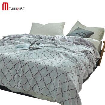 Weiche Decke Flanell Fleece Luxus Decke Wasser Welligkeit Königin Größe Licht Gewicht Gemütliche Plüsch Mikrofaser Solid Decken