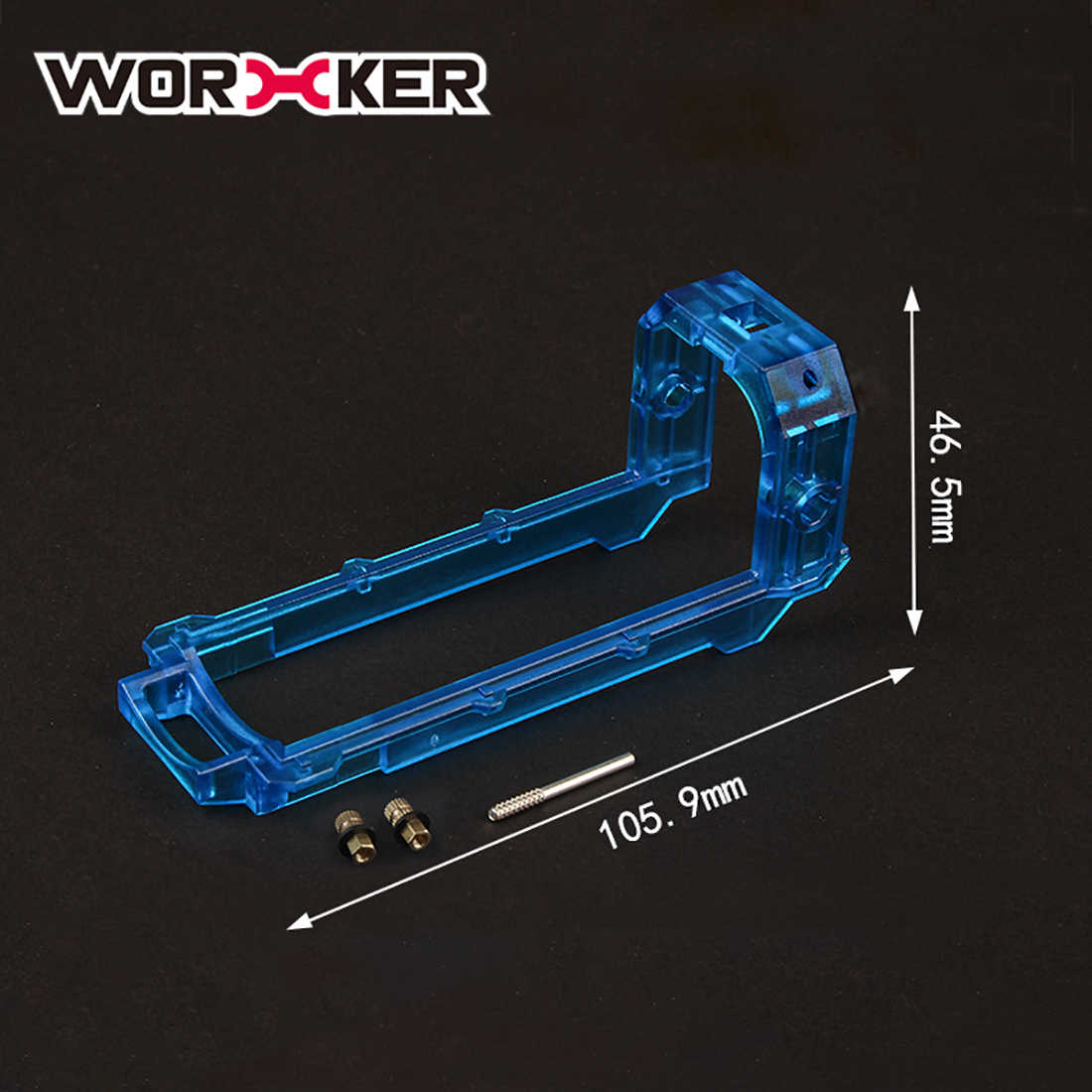 Nieuwe Hot Werknemer Retaliator Shell Slide Blok Werknemer Retaliator Shell Set-Transparant Blauw