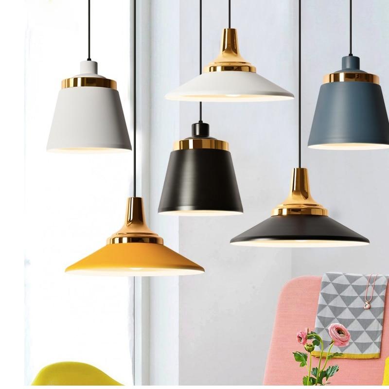 SETTEMBRE Industrial Lamp Minimalist Aluminum Single Head Lamp Iron Lampshade Macaron Study  Bedroom Dining Table Light Pendant Lights     - title=