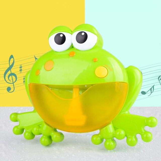 Baby Bath Bubble Machine  Bathroom Accessories Sets Big Frogs Automatic Bubble Maker Blower Music Maker Bathtub Soap Machine 2