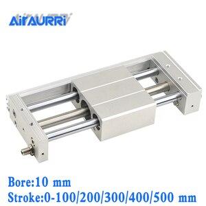 Cilindro sin vástago acoplado magnéticamente/estilo deslizante 10mm diámetro 100/200/300/400/500mm carrera CY1S/CDY1S actuador lineal para neumáticos