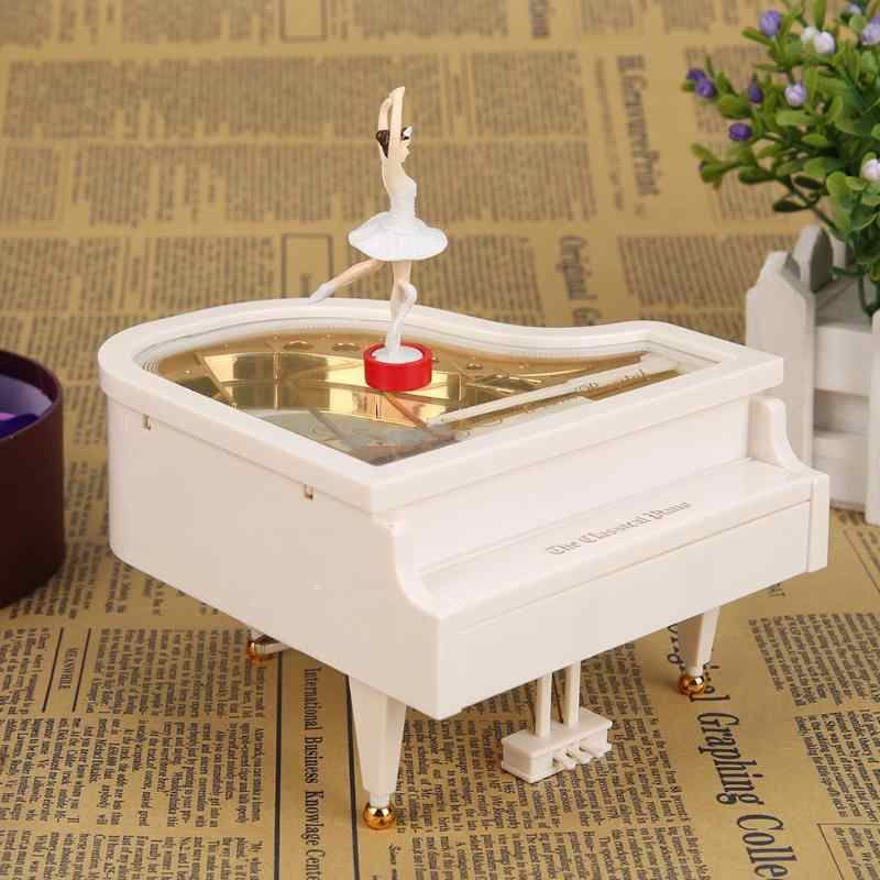 Classic Piano Model Dancing Ballerina Music Box Hand Crank Musical Boxes Birthday box Gift Home boite cadeau Decoration muziekdo