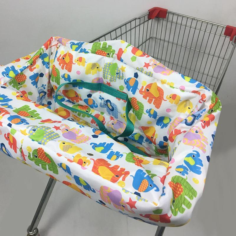 Simple Printing Infant Child Supermarket Shopping Cart Dining Chair Protector An