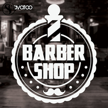 Barber Shop Mustache Beard Vinyl Wall Art Sticker Decal Hairdresser Beauty Salon 58x67cm