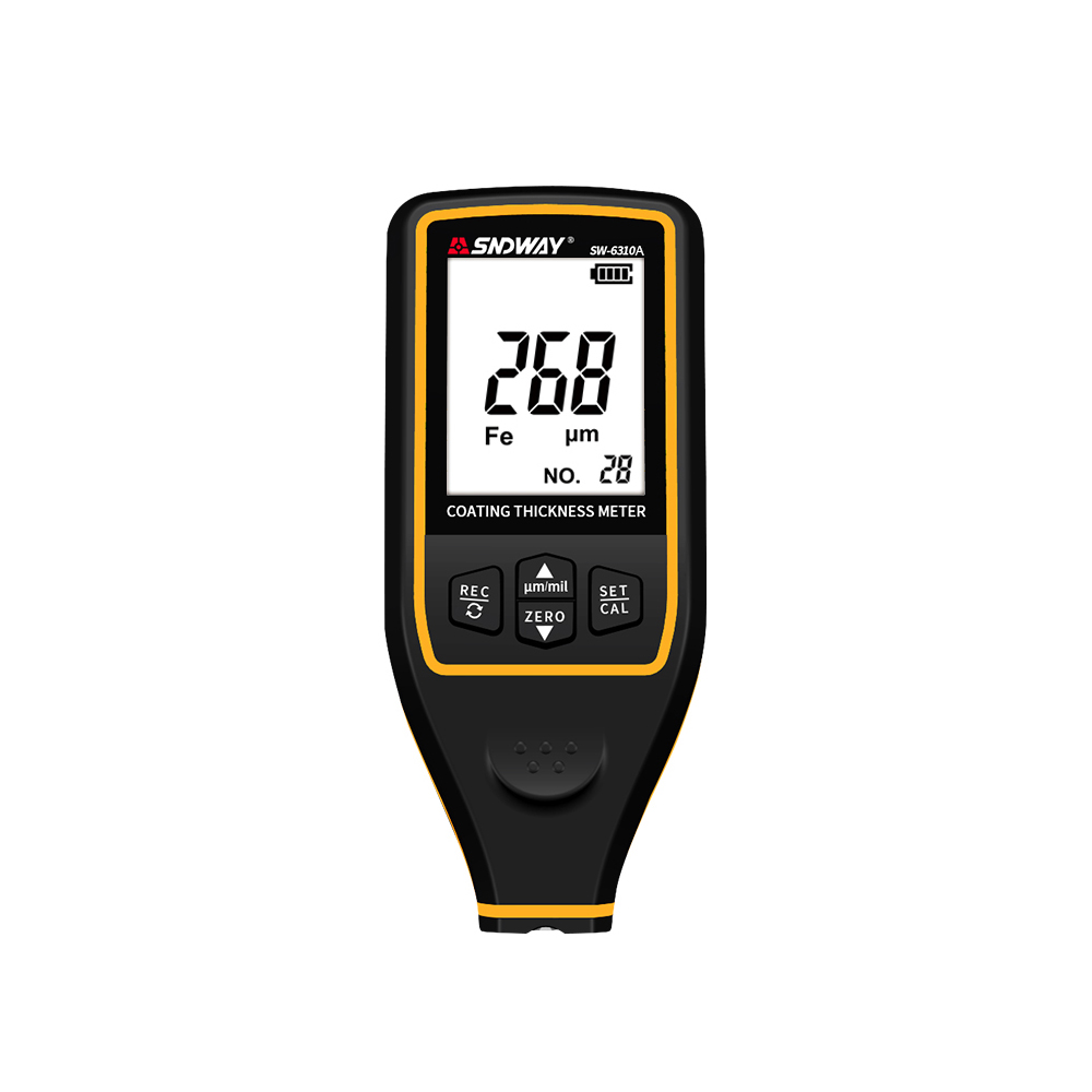 Sndway Digital Thickness Gauge Width Measuring Instruments Tester For Test Paint Film Coating Thickness Sw-6310A