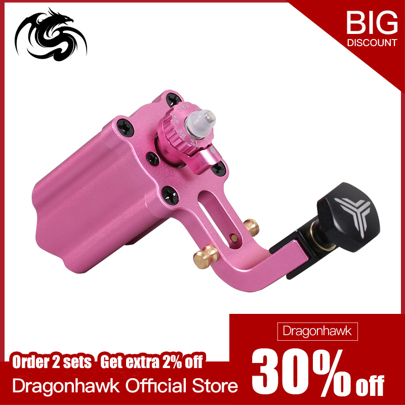 Adjustable Stroke Direct Drive Rotary Tattoo Machine Motor Pink Color RCA Cord For Tattoo ArtistAdjustable Stroke Direct Drive Rotary Tattoo Machine Motor Pink Color RCA Cord For Tattoo Artist