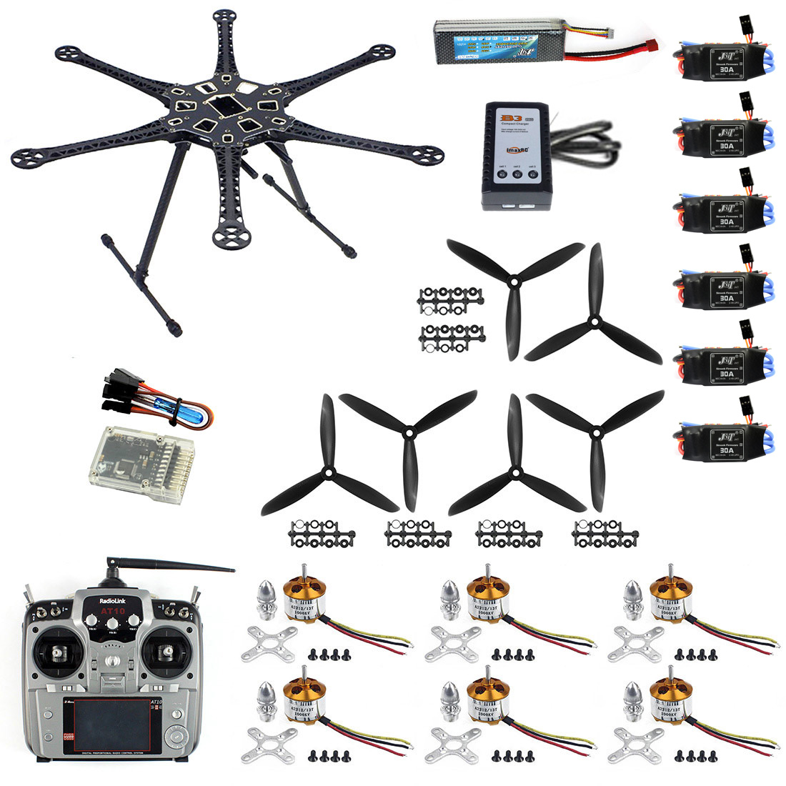Amiable F08618-g Diy Drone Quadcopter Upgraded Full Kit Hmf S550 9045 3-propeller 6axle Multi Hexacopter Ufo Rtf/arf & 2-axle Gimbal Remote Control Toys Toys & Hobbies