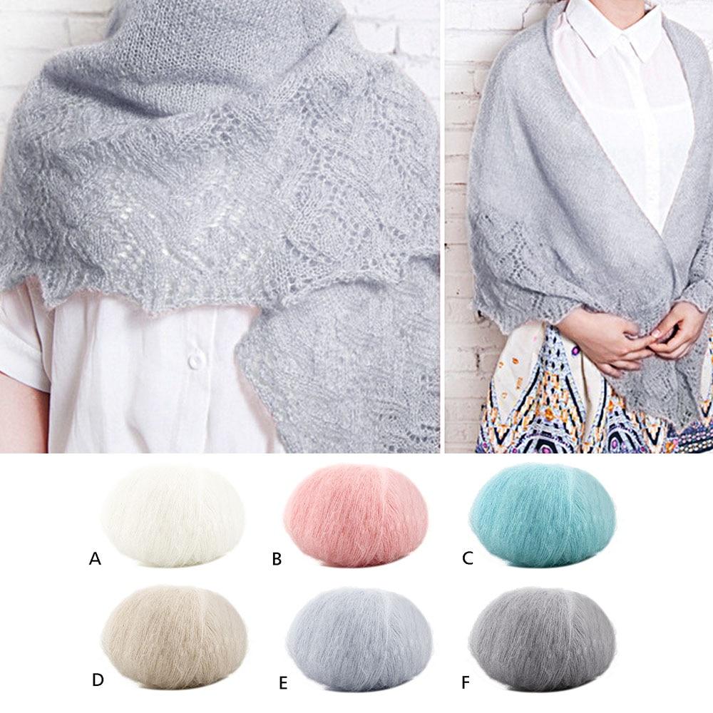 Winter Angola Mohair Hand-knitted Knitting Yarn Balls DIY Scarf Sweater Shawl Yarn For Hat baby Lint Crochet Yarn Weave Thread girl