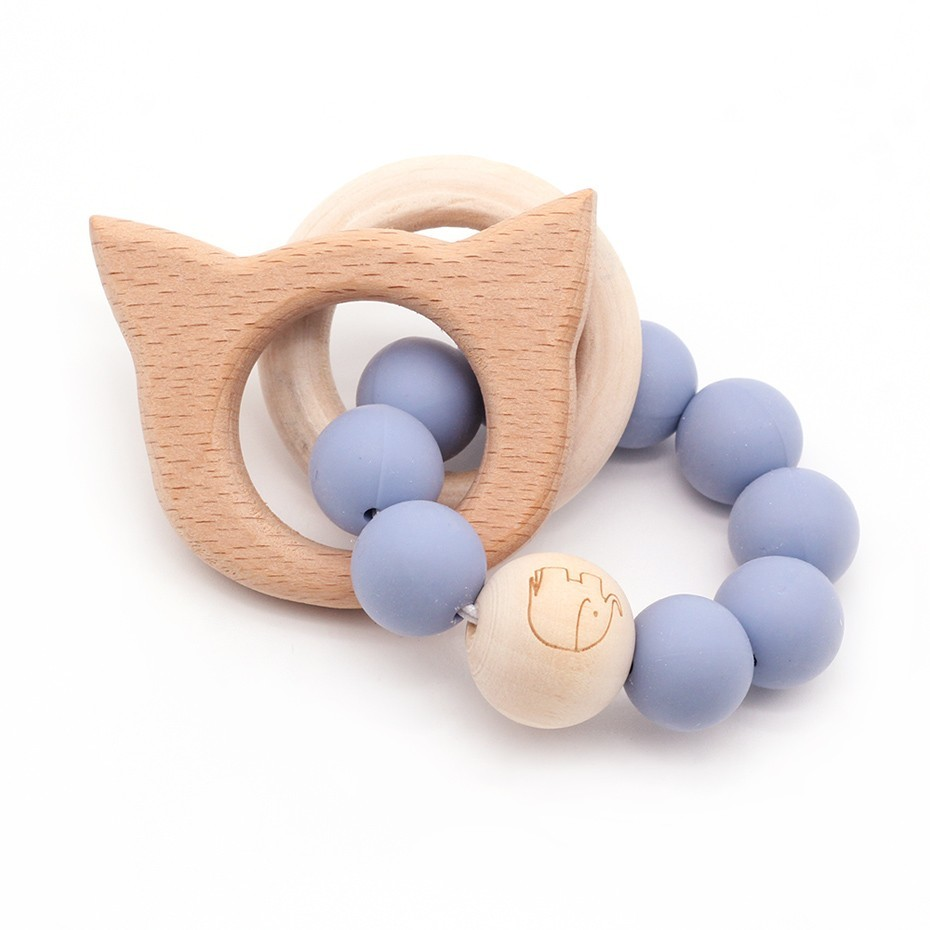 Image 5 - Wooden Teether Baby Bracelet Animal Shaped Jewelry Teething For Organic Wood Silicone Beads Baby Rattle Stroller Accessories Toy-in Baby Rattles & Mobiles from Toys & Hobbies