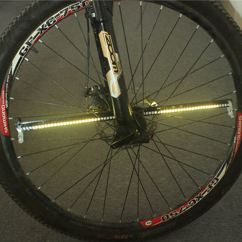 128 RGB LEDs Color Changing Programmable Bike Bicycle Wheel Light Water Resistant Anti shock Spoke Light