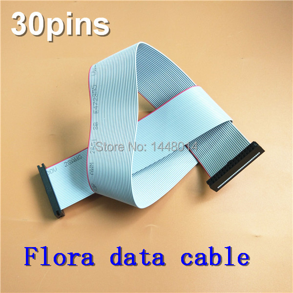 10pcs large format plotter Konica 512 head cable 30pins Flora KM512 grey data cable 40cm long
