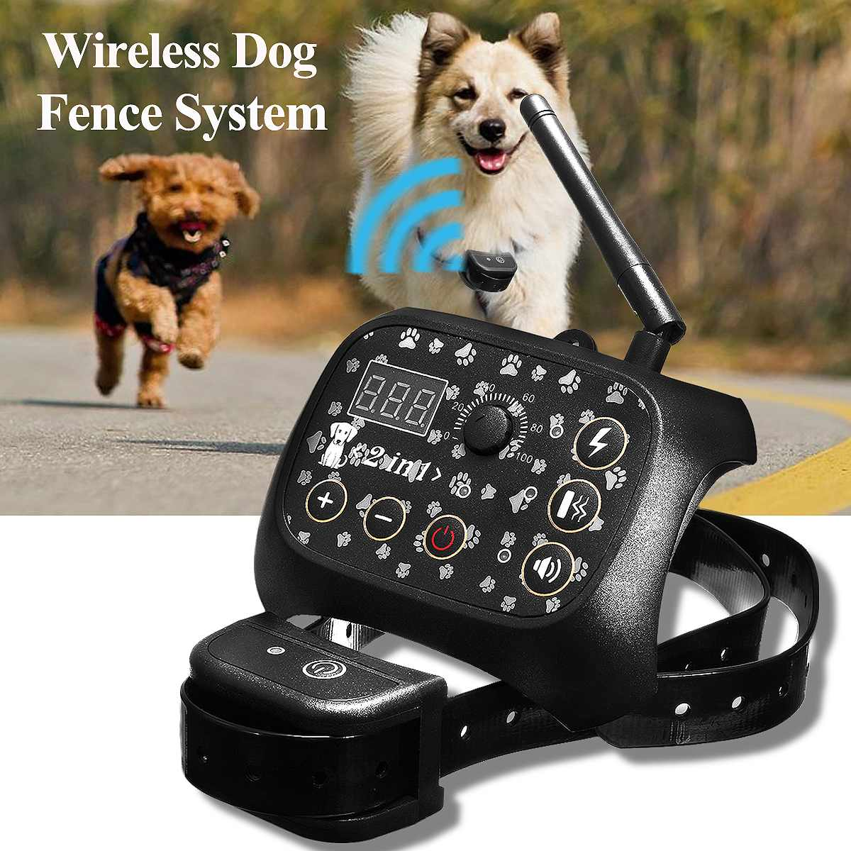Electronic Wireless Remote Dog Training Collar Fence System Dog Training Electric Shock Collar Pet Shop Dog Acessorios
