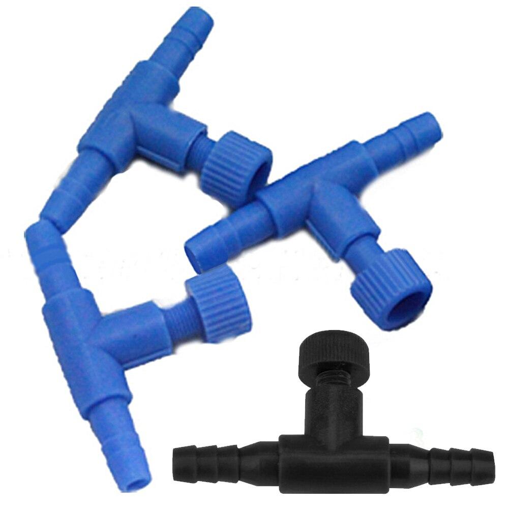 r Hot Sale 10 Pcs Blue Plastic 2 Way Aquarium Fish Tank Air Pump Control Valves Uxcell