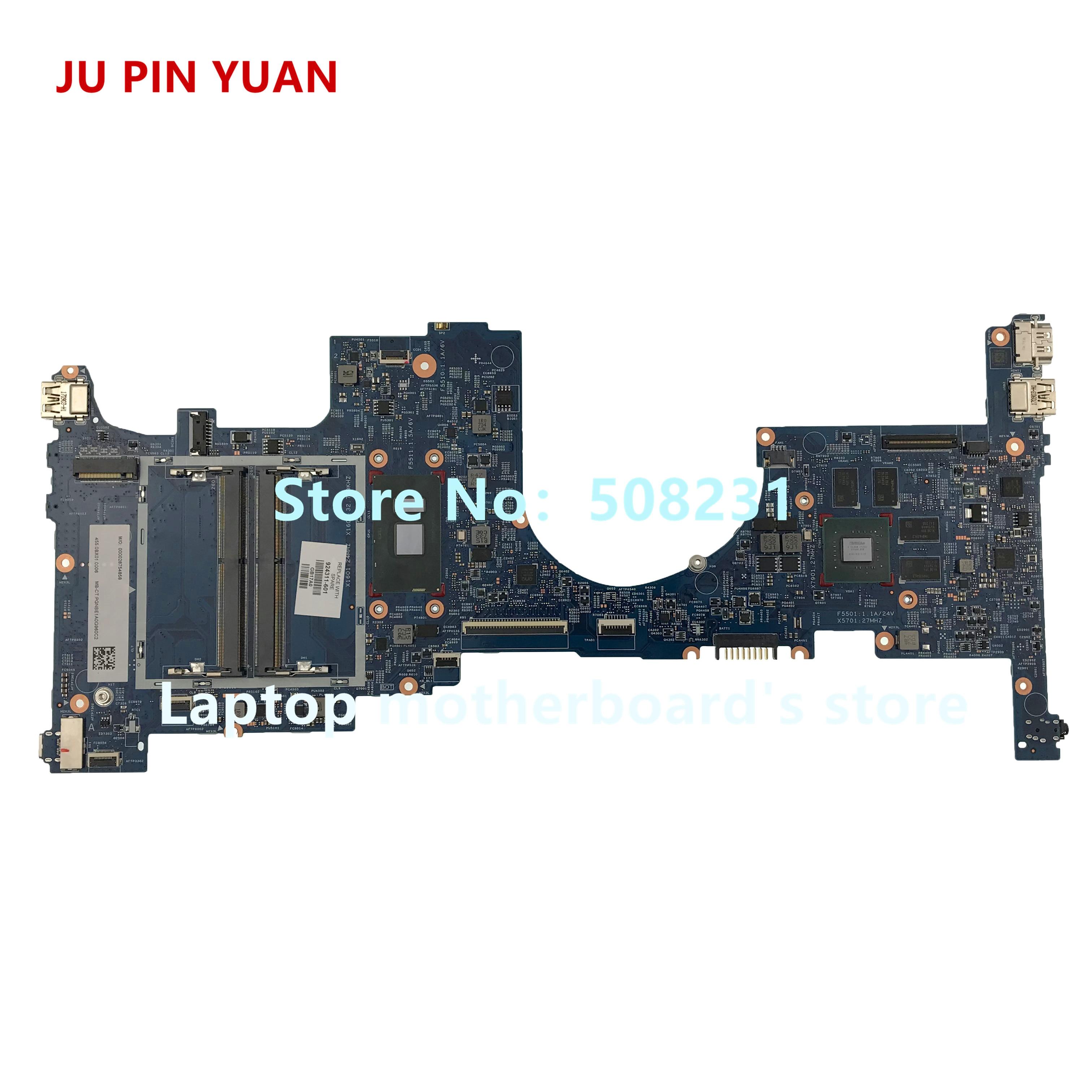 JU PIN YUAN 924311 601 448.0BX06.0011 motherboard For HP ENVY X360 CONVERTIBLE 15 BP Notebook PC 940MX 4GB i7 7500U fully Tested