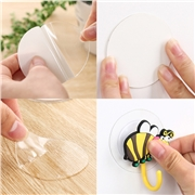 Pad Home Decor Seamless Cup Gel Magic Sticker 1PC Double Sided Adhesive Tape Hook Suction Tiles DIY Reuseable Transparent Fixate