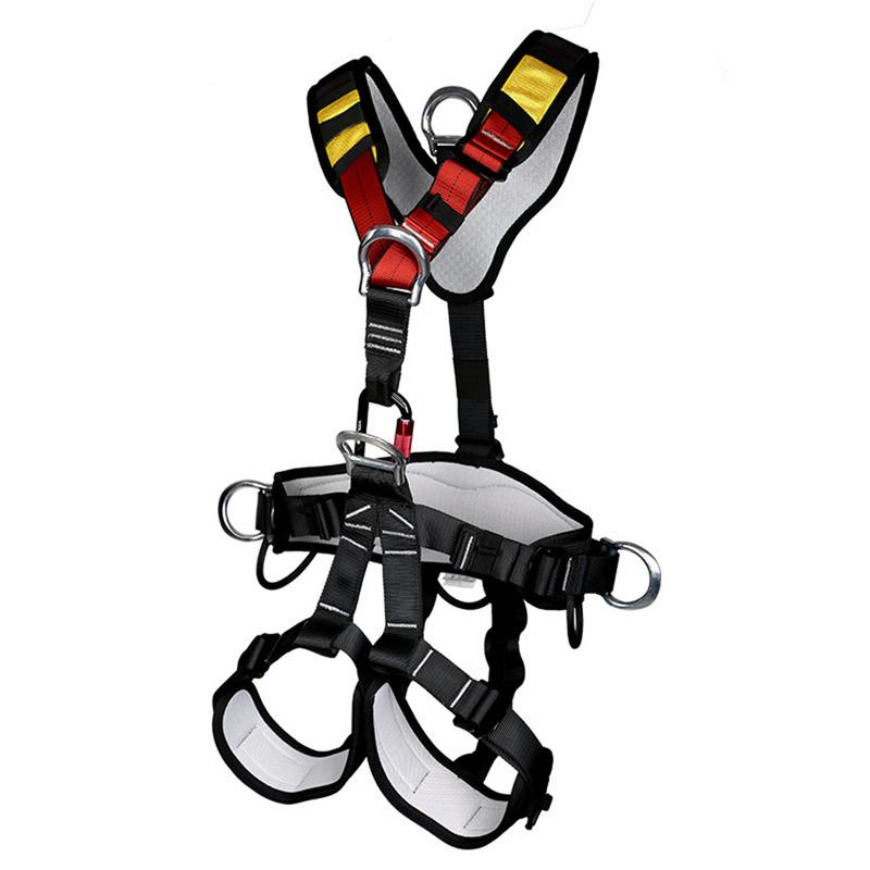 Magideal Adjustable Rappelling Safety Harness Rappelling Waist Leg Protect Safety Harness Belt Climbing Accessories Outdoor Tool Delicacies Loved By All Climbing Accessories
