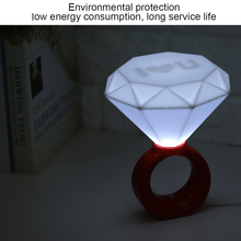USB Diamond Ring Design LED Lamp Romantic Night Light for Home Bar Cafe Wedding Decoration lamp luminaria lamparas s110 romantic birthday gift diamond ring style led white light usb lamp white red