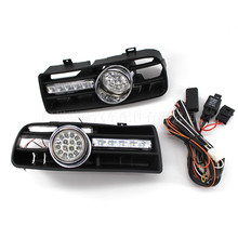 Car External Lights Front Fog Light Assembly Fit for 1997-2006 year Volkswagen Golf 4 modified fog lights and daily light grille стоимость