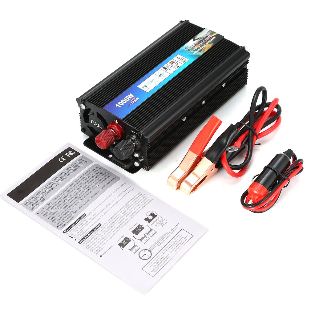 1000W Household Power Inverter Voltage Transformer Pure Sine Wave Power Inverter DC12V to AC 220V Converter Charger1000W Household Power Inverter Voltage Transformer Pure Sine Wave Power Inverter DC12V to AC 220V Converter Charger
