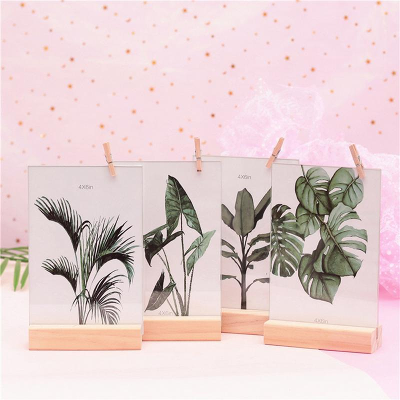 Double-sided Ins Style Nordic Style Simple Style Photo Frame Innovative Novelty Home Decoration Set Table Crafts
