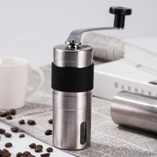 Mini Manuel Seramik Kahve Değirmeni Paslanmaz Çelik Ayarlanabilir Kahve Değirmeni ile Depolama Kauçuk Döngü Kolay Temizlik