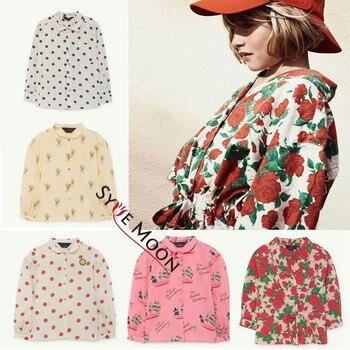 f3615e3ce Camisas de estilo largo para niños 2019 TAO marca niño niñas punto flor  estampado camisetas de ...