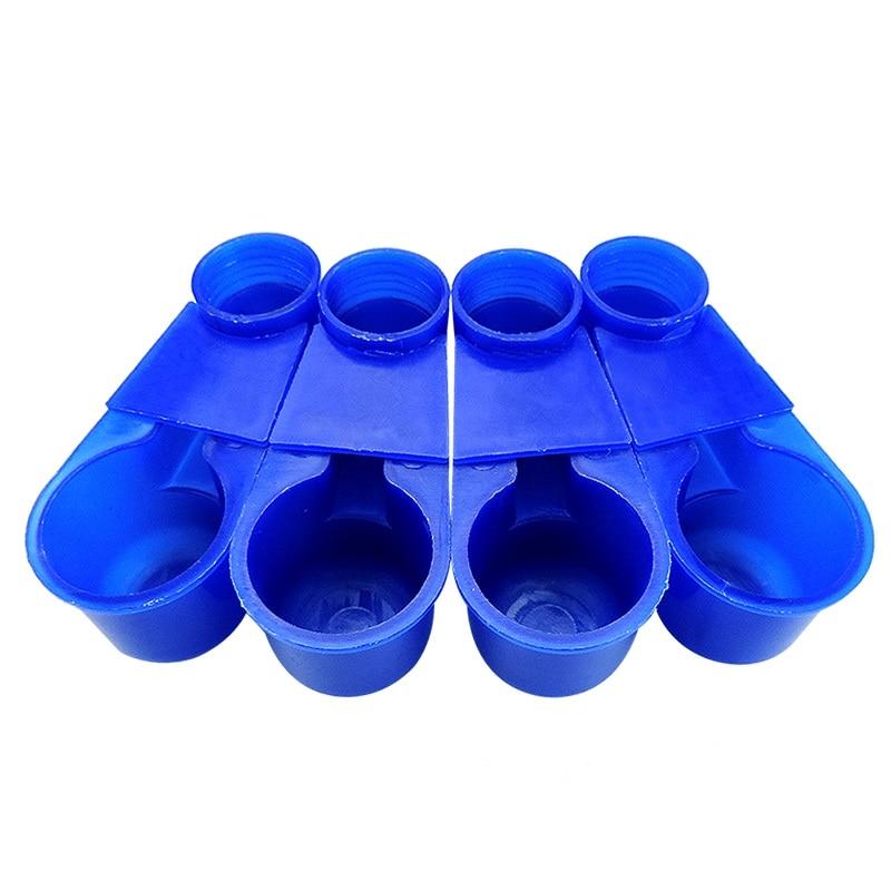 50 Sets Bird Quail Feeder Bird Drinker Cups For Parrot Pigeon Bird Cage Accessories Bird feeding Waterer bowl Free shipping
