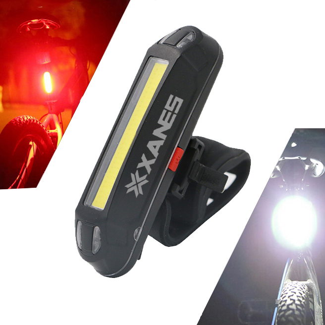 XANES 2 In 1 Bicycle USB Rechargeable LED Light Taillight Ultralight 500LM Bright Safety Lamp Warning Night Riding Accessories