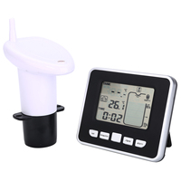 1pcs Ultrasonic Water Tank Level Meter Temperature Sensor Display Time Low battery Indicator Instruments Tools Mayitr