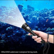 200м-500м подводный светодиодный фонарик подводное плавание кемпинг рыбалка фонарик 5000лм XHP70