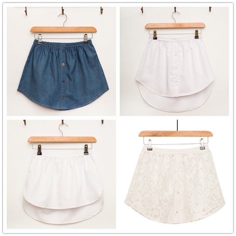 Spring And Summer Short Skirt All Match Lace Rendering False Shirt A-line Half-body Women Skirts Wholesale Drop Shpper