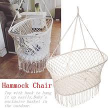 Chair Swing Hammock Rope Rocking Outdoor Children Cotton Sleep-Bed
