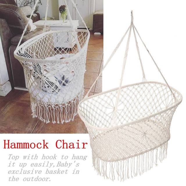 rope chair swing tullsta cover ikea uk cotton tassel hammock children rocking sleep bed indoor outdoor hanging sest child