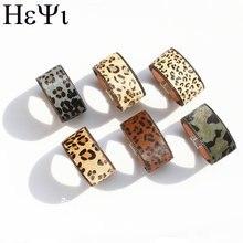 Женский кожаный браслет с леопардовым узором Корейский Бархатный