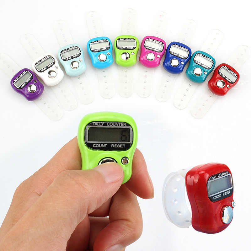 Sewing Tools Accessory Sewing Knitting Ring LCD Electronic Stitch Marker Manual Thumb Counter Row Finger Counter 1 Pcs