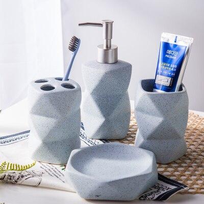 Pour les ensembles de bouteilles de Lotion de bain à la maison de boîte à savon en céramique porte-brosse à dents accessoires de salle de bains d'hôtel, accessoires de salle de bains
